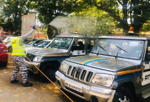 Spray on Kalamboli RTO Vehicles