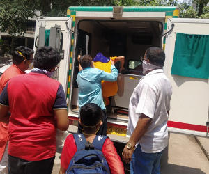 Patient in Ambulance